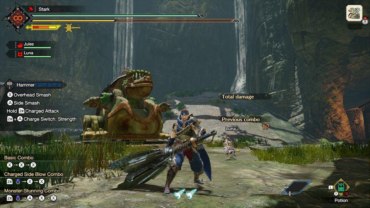 The hammer from Monster Hunter Rise