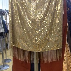 Chain and sequin skirt (sample), $99