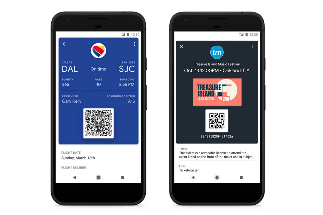 you can save your plane tickets on google pay now