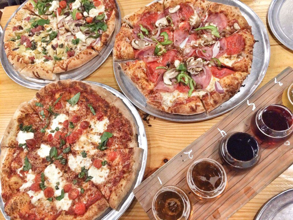 Pinthouse's pizzas and beer