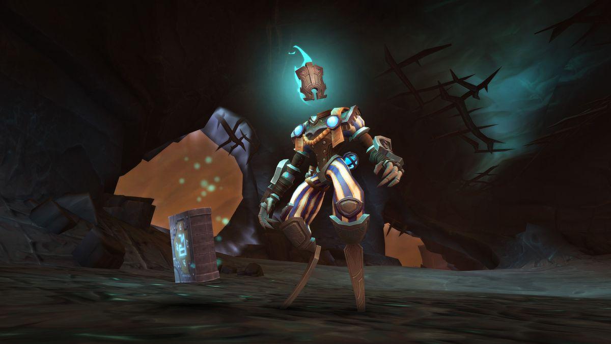 Ve'Nari, a robotic NPC from World of Warcraft Shadowlands