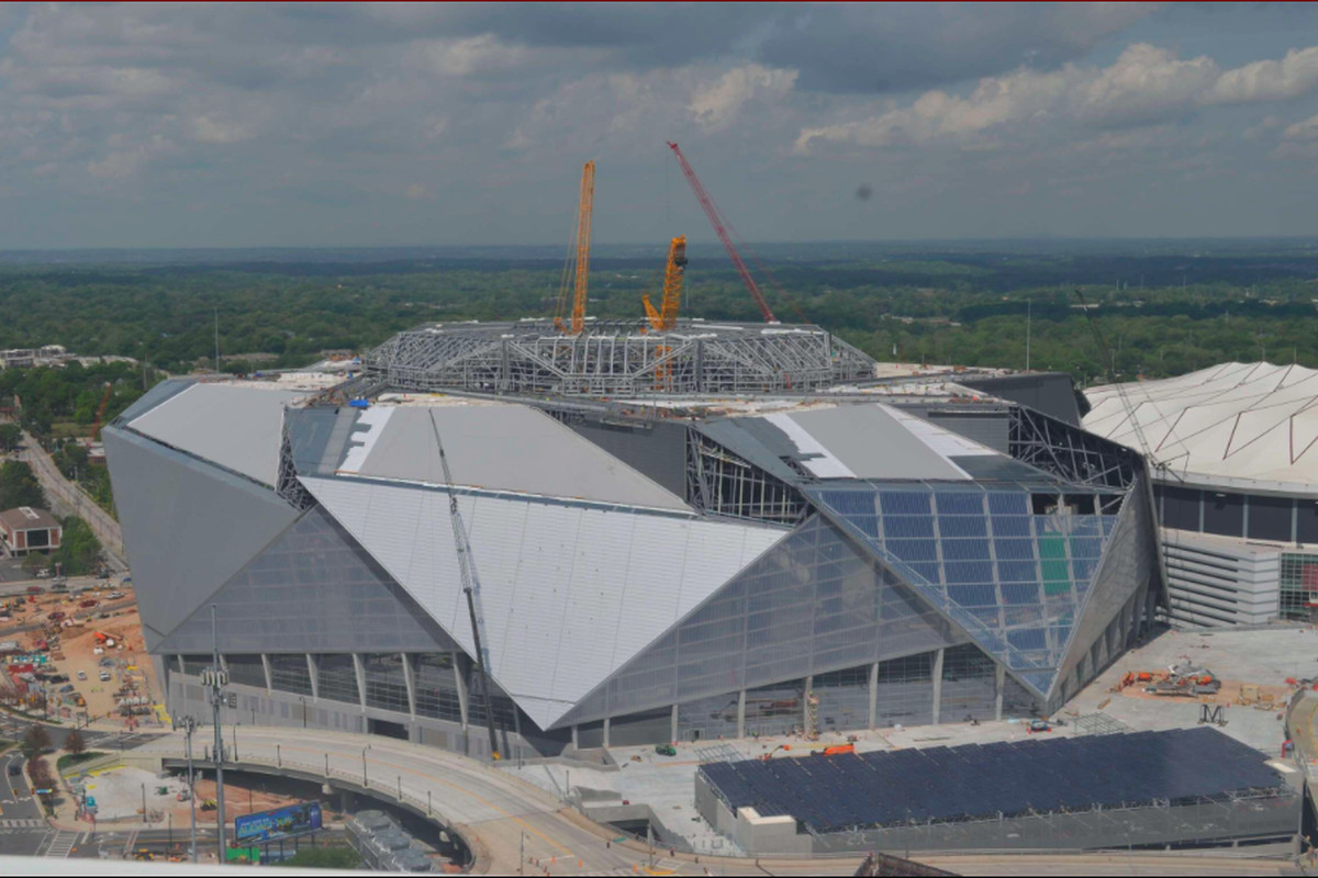 Poll atlanta falcons mercedes benz stadium is delay for Mercedes benz dome in atlanta