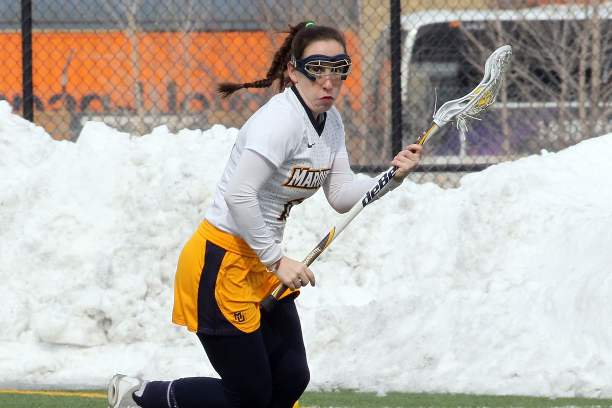 Claire Costanza recorded a Marquette record seven assists and 10 total points against Saint Mary's.