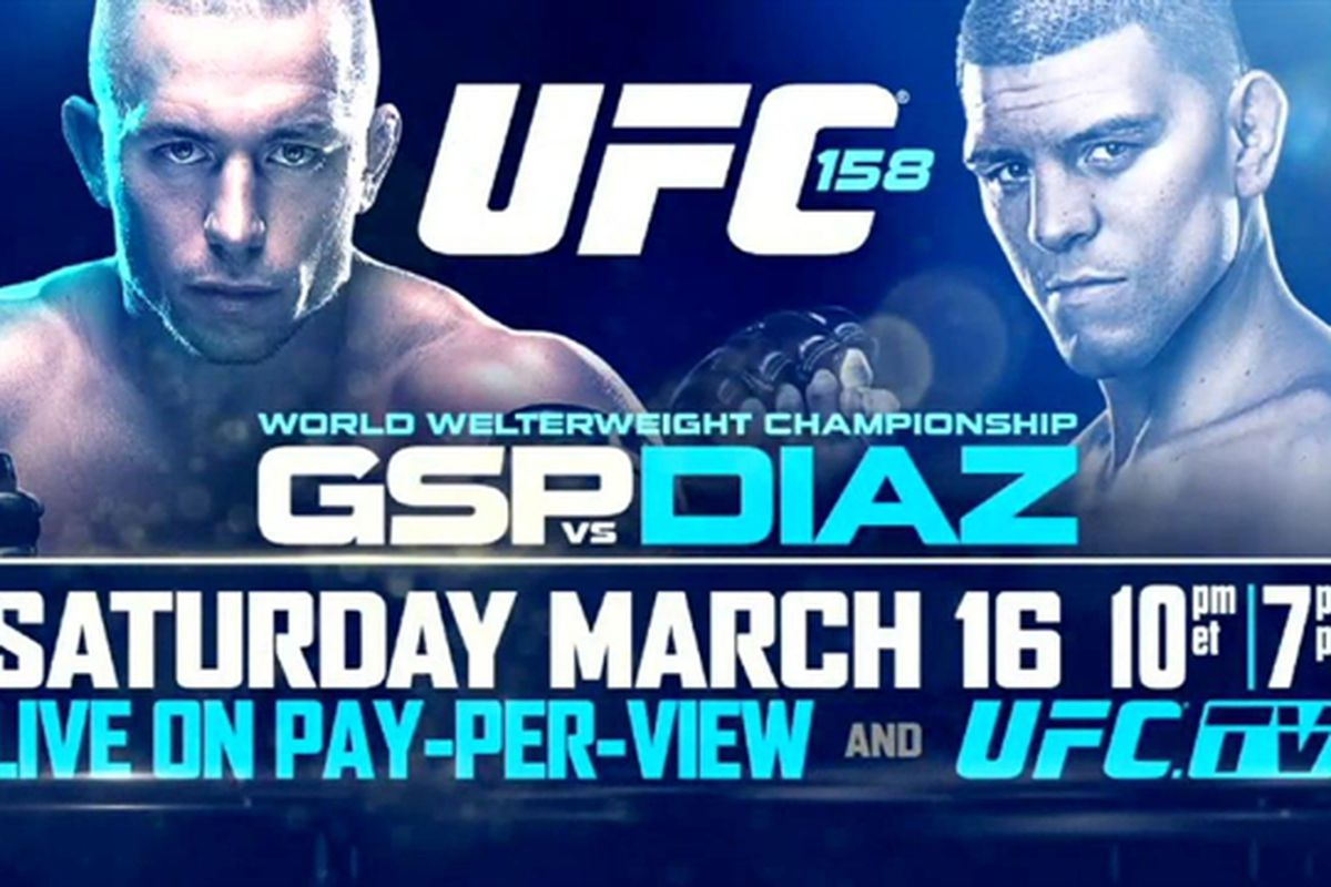 Ufc 158 betting predictions today is buying and selling bitcoins illegal immigrants