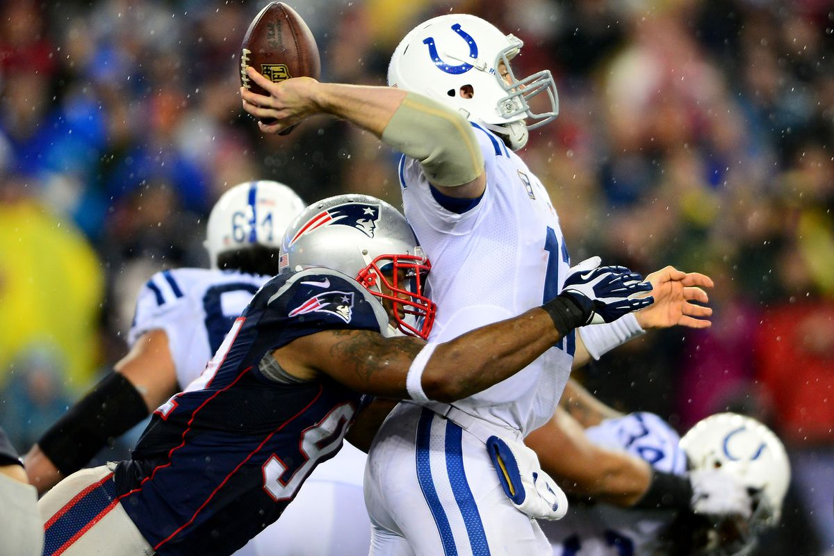 Jamie Collins can be a real pain in the quarterback's backside.