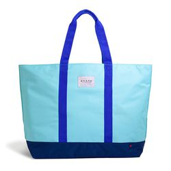 Water-resistant polyester canvas makes this giant carryall ideal for the beach, plus a zip-top helps you keep sand from getting where it doesn't belong.