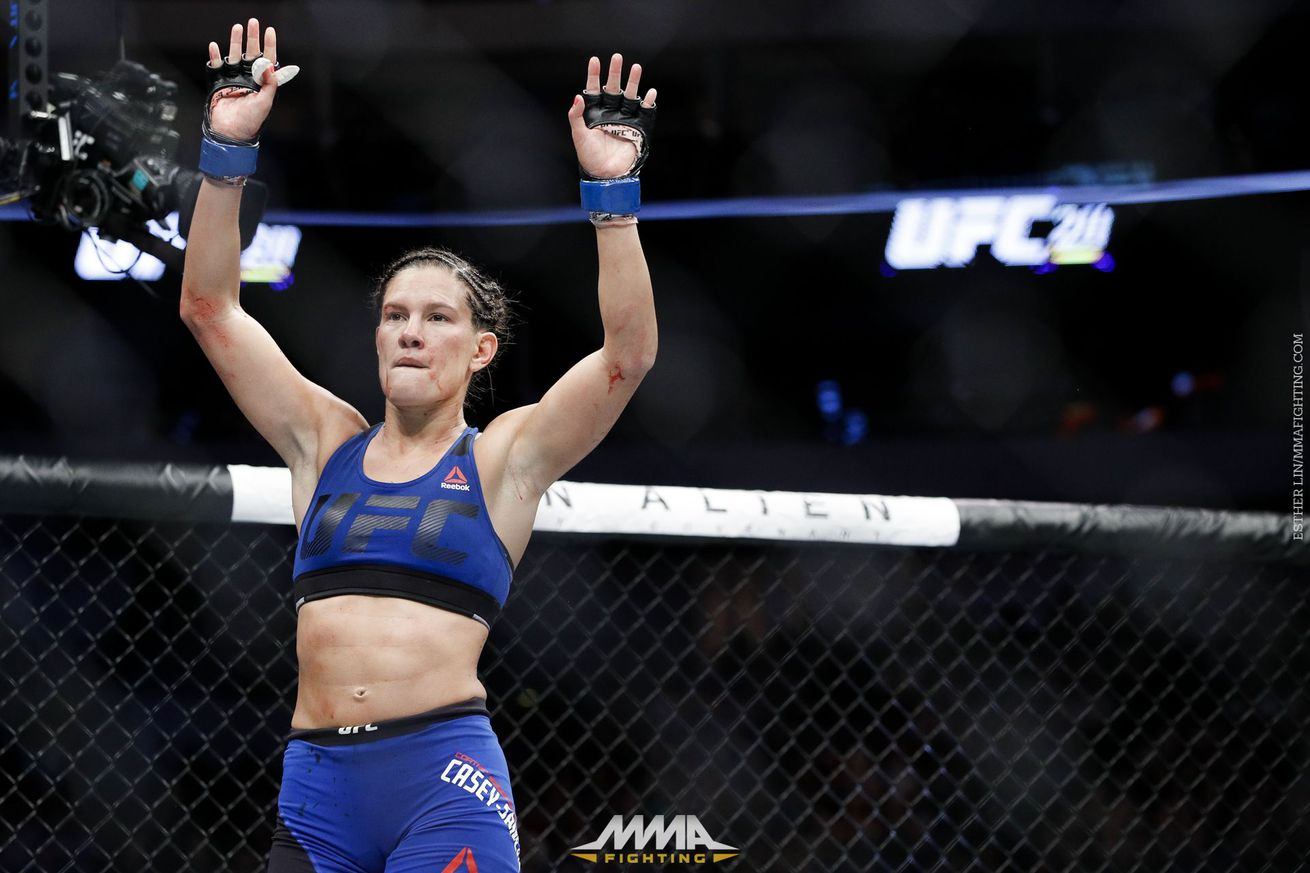 UFC says Cortney Casey has been exonerated in doping case, but Texas sanctions remain