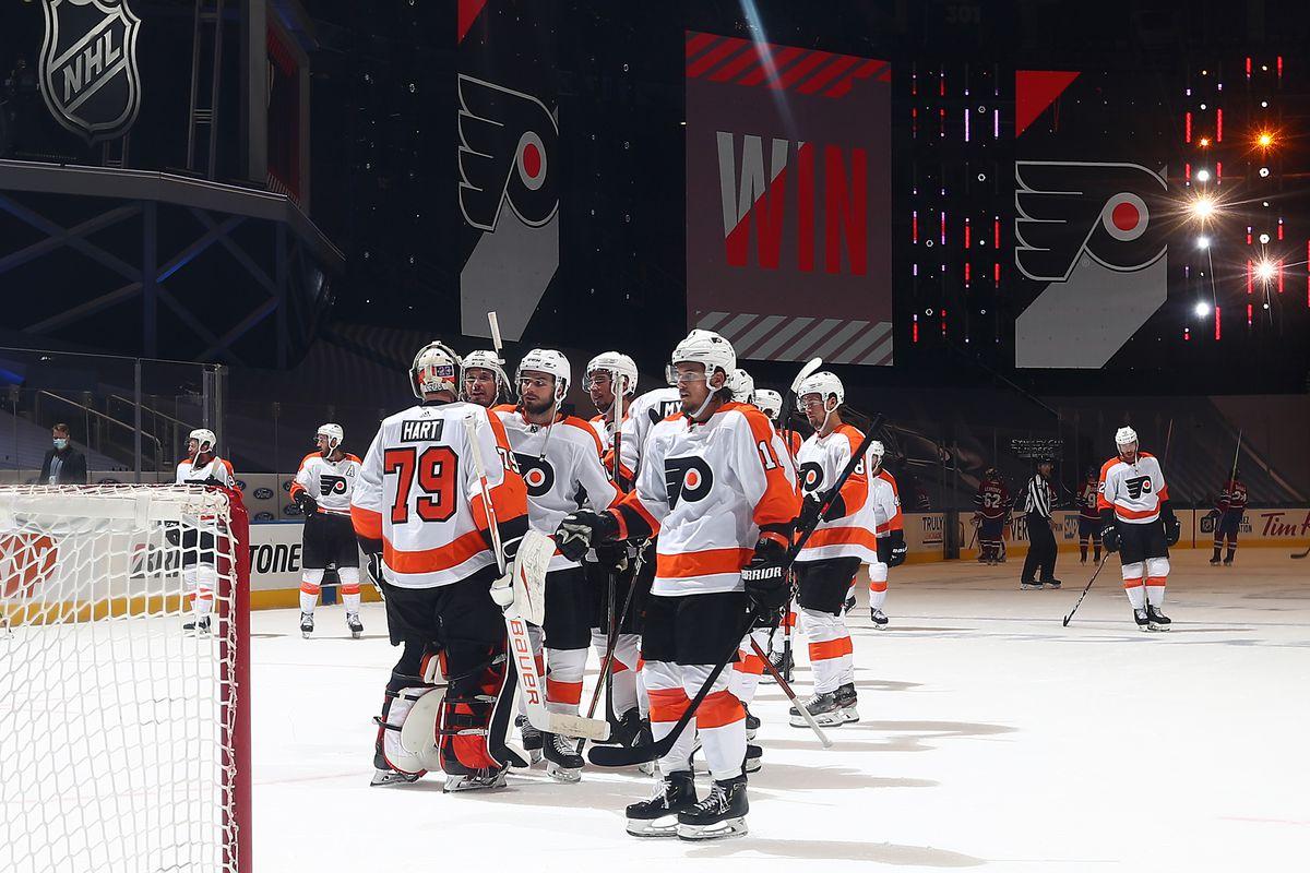 Flyers 2 Canadiens 0 Back On Track Broad Street Hockey