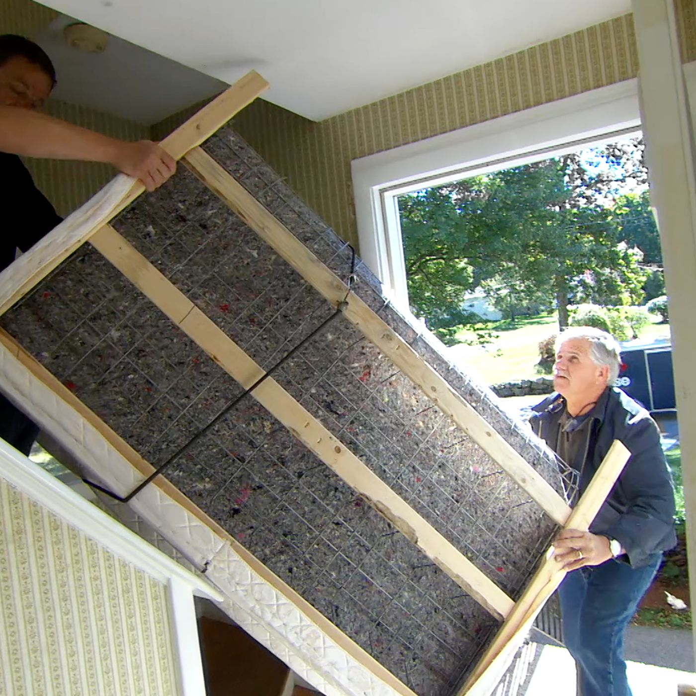 How To Move A Box Spring Up A Narrow Staircase This Old House