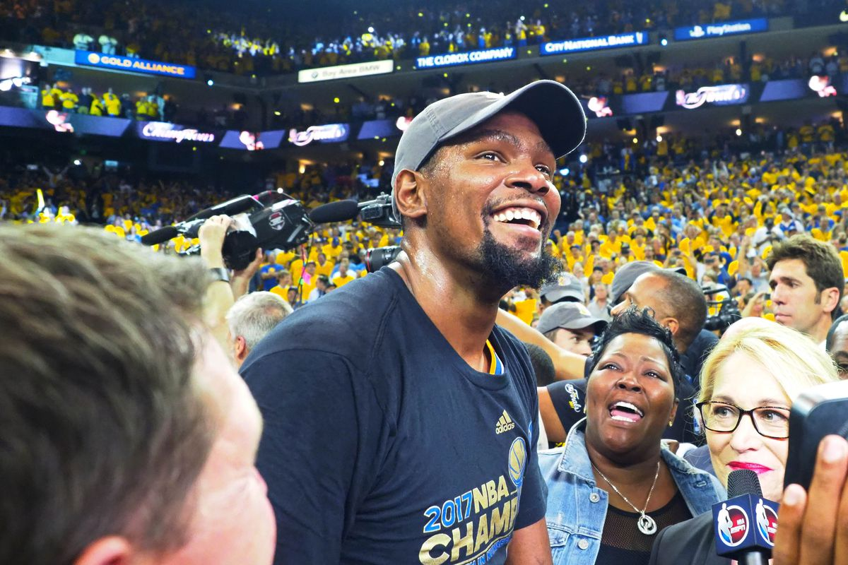 Kevin Durant In High Spirit After NBA Finals Win