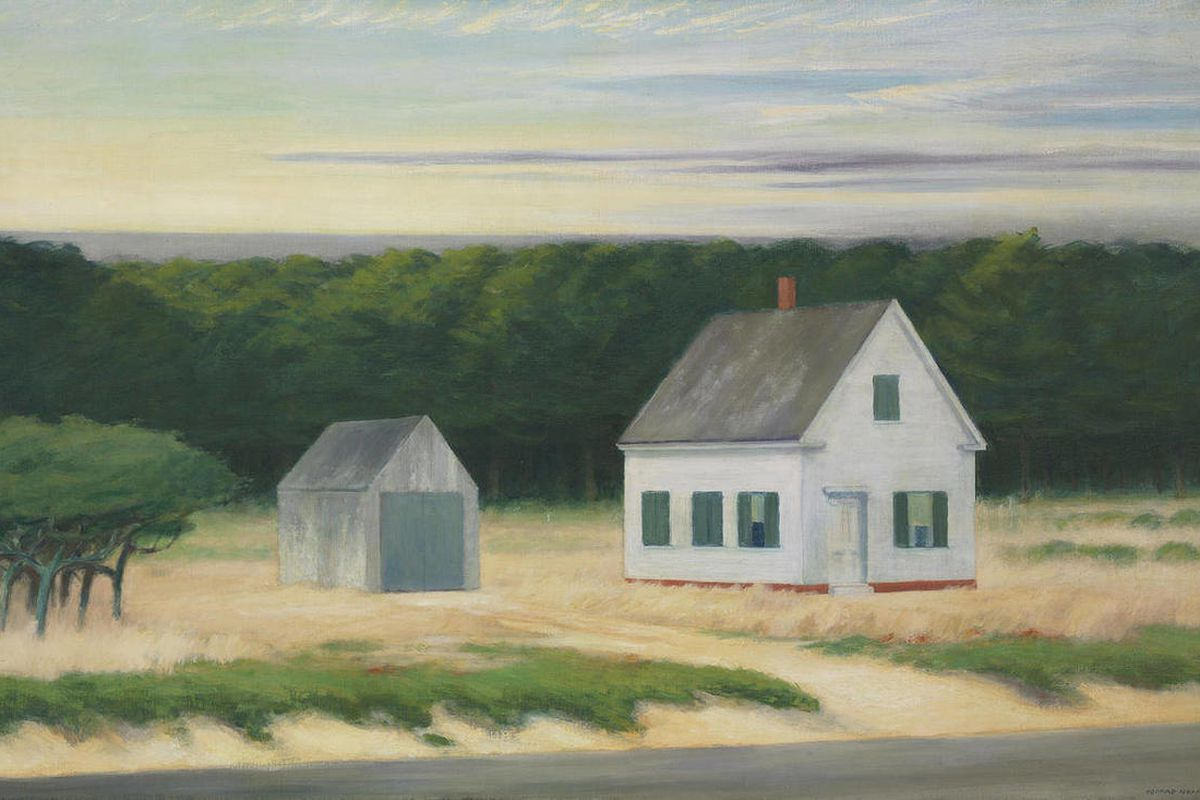 This undated photo provided by Christie's shows a painting of a Cape Cod autumn scene by Edward Hopper.  The large-scale painting  is coming to auction in  New York City and is expected to sell for $8 million to $10 million when it is put up for sale by C