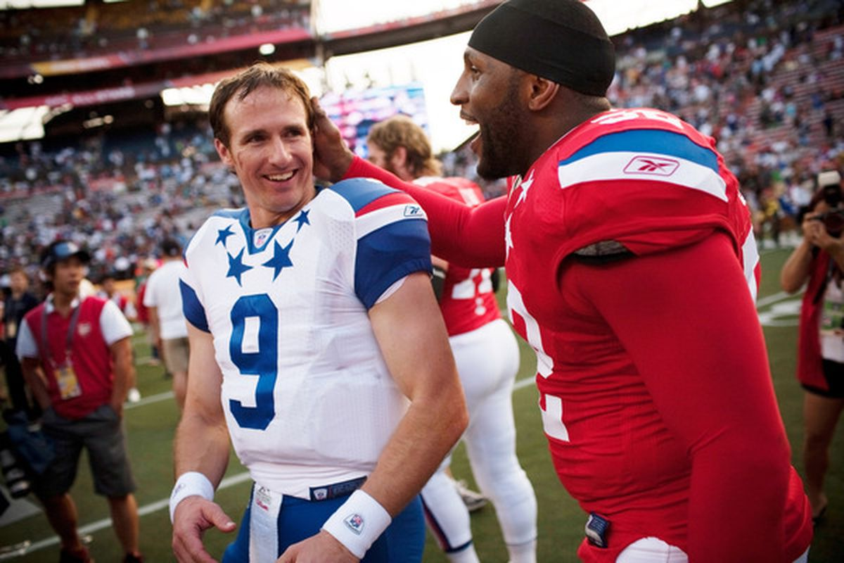 """""""You know what? I like you Drew Brees. In fact, I've decided not to stab you."""""""