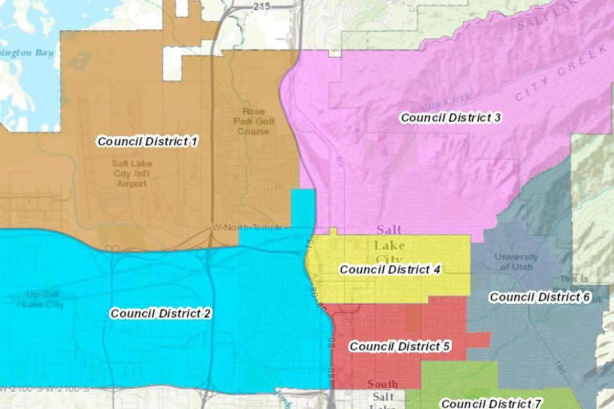 Salt Lake City Council Districts.