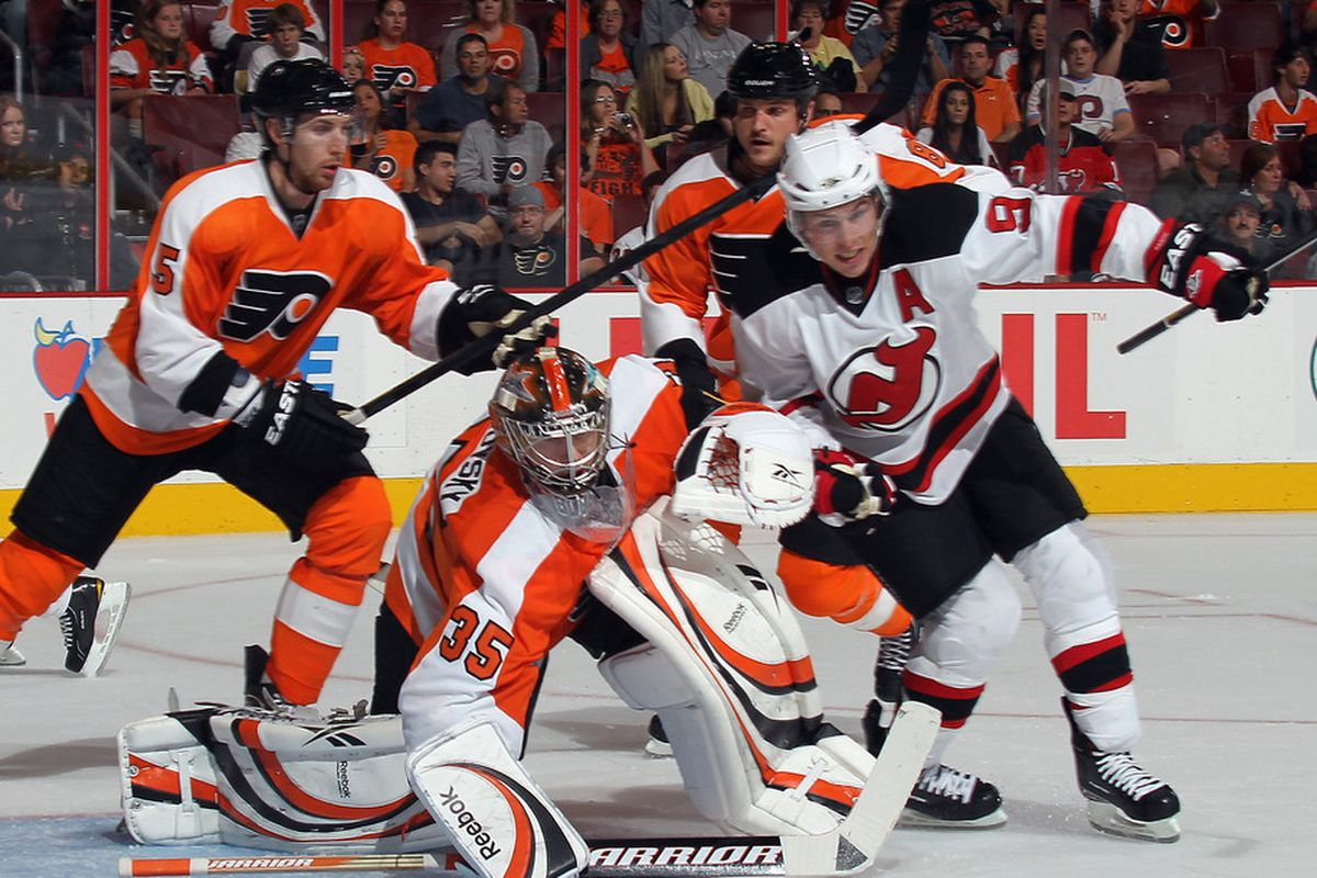 PHILADELPHIA, PA - SEPTEMBER 29: A healthy Zach Parise will be one of the keys for the New Jersey Devils this season. After missing the postseason a year ago, New Jersey will look to make it back to the playoffs. (Photo by Bruce Bennett/Getty Images)