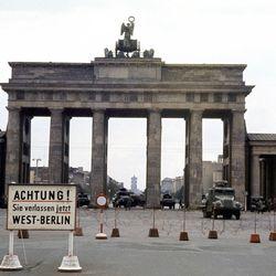 The Brandenburg Gate from West Berlin on August 13, 1961.