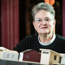 Rev. Connie Campbell-Pearson, pictured Monday April 24, 2017, planned and has begun collecting donations for Housing First Village, a tiny-home development that will include dozens of single-occupant units in Bozeman, Mont.
