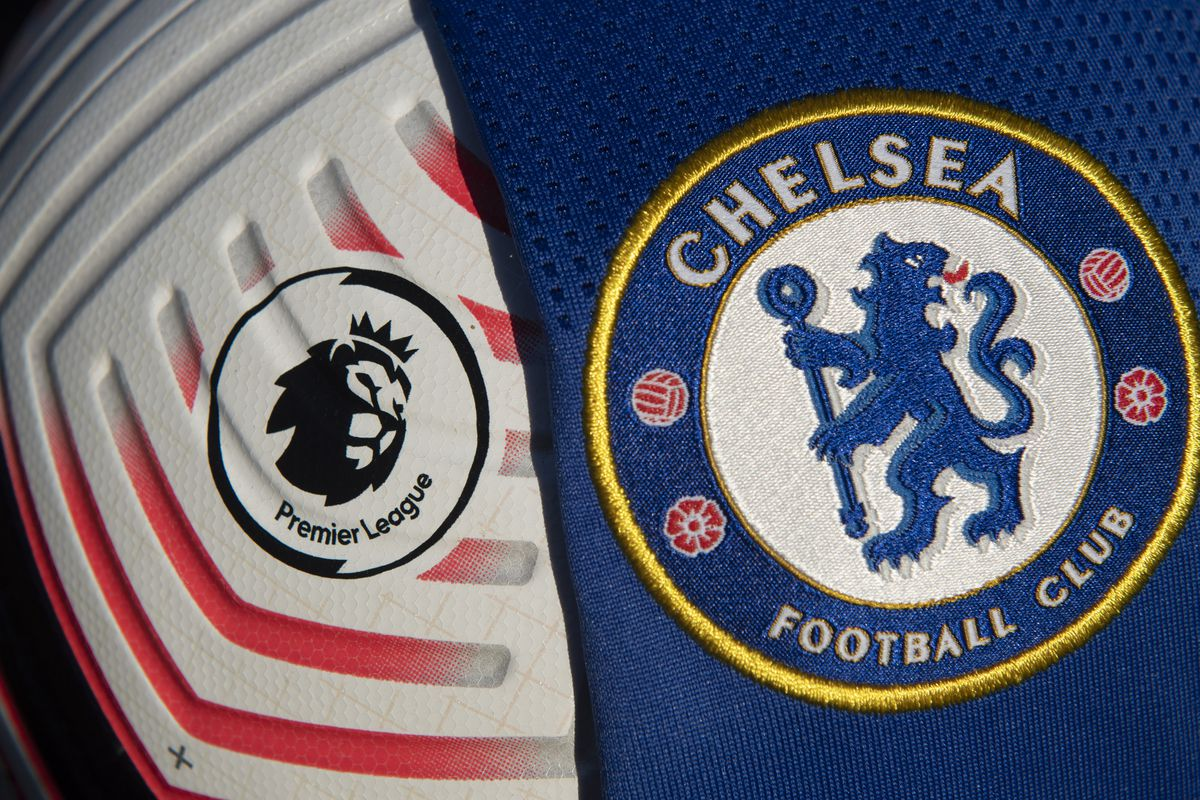 The Official Nike Premier League Match Ball with the Chelsea Badge