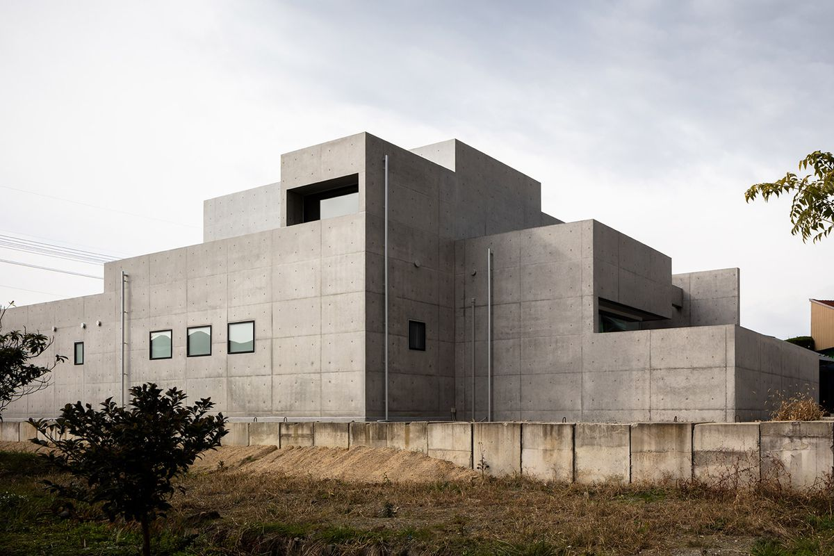 Concrete House In An Is Like A Giant