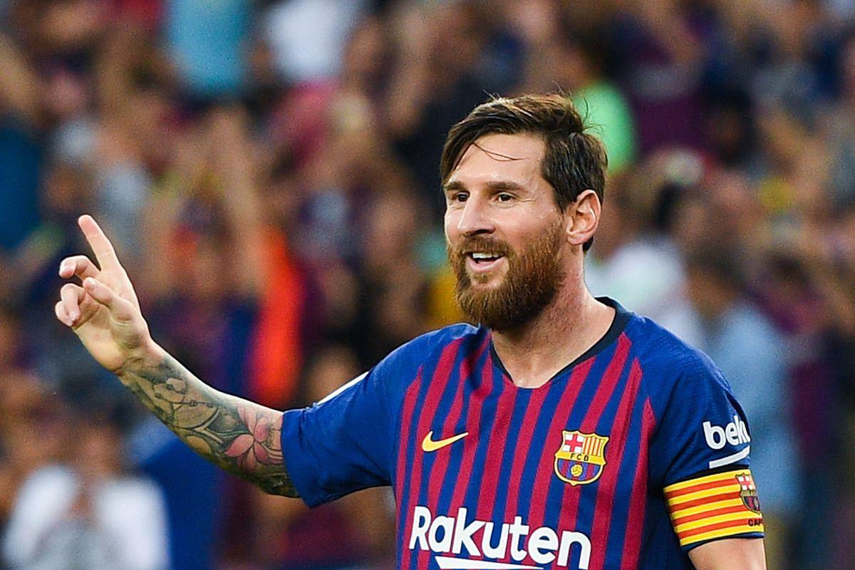 The stats show Barcelona's Lionel Messi is La Liga's king