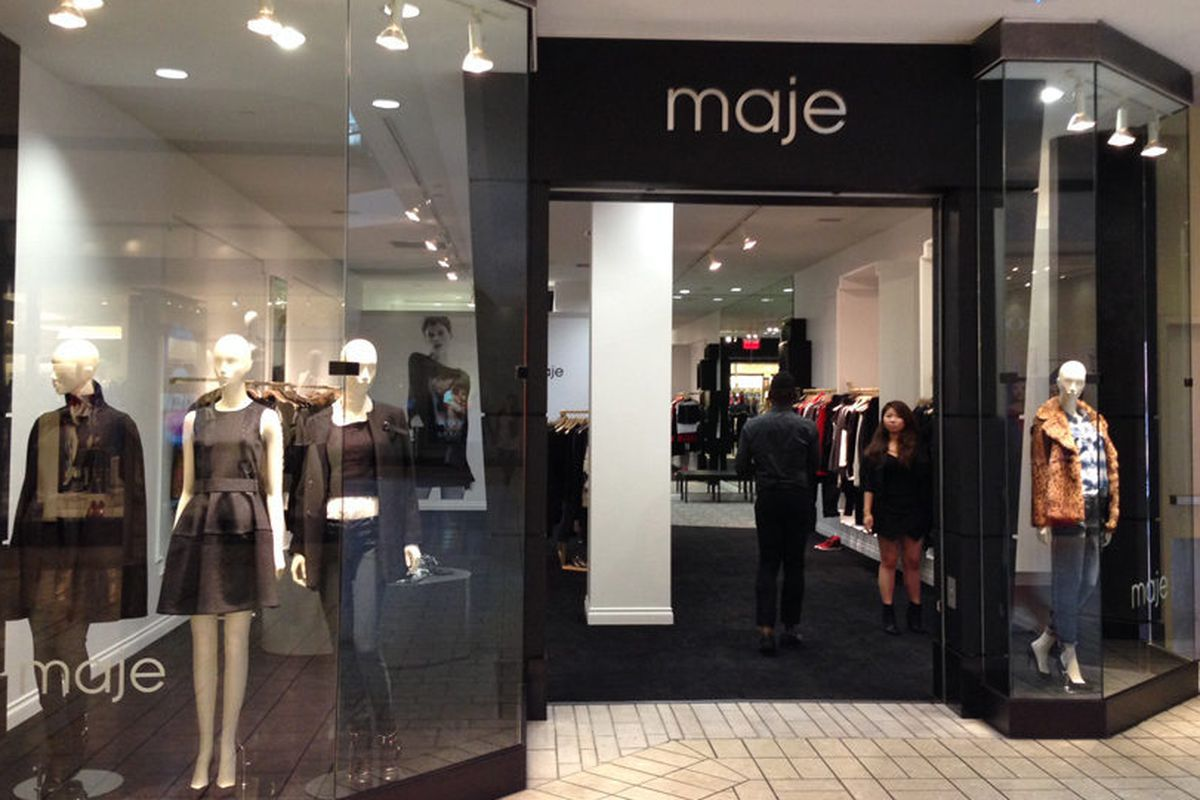 """Maje Beverly Center <a href=""""http://la.racked.com/archives/2013/11/11/surprise_maje_opened_at_beverly_center_sandro_coming_soon.php"""">via</a>"""