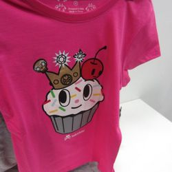 A seriously cute little kiddie tee. Too small for us, too big to put on a cat. Bummer.