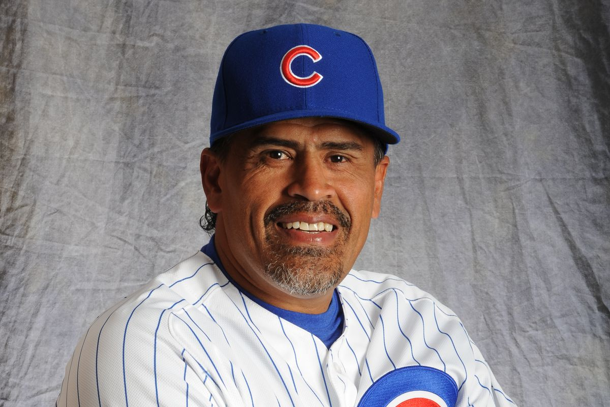 MESA, AZ - MARCH 2:  Henry Blanco #64 of the Chicago Cubs poses for a portrait during Photo Day on March 2, 2015 at Sloan Park in Mesa, Arizona.  (Photo by Rich Pilling/Getty Images)