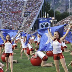 Dancers at the Stadium of Fire at LaVell Edwards Stadium in Provo , Utah, Saturday, July 3, 2010. Matt Gillis, Deseret News