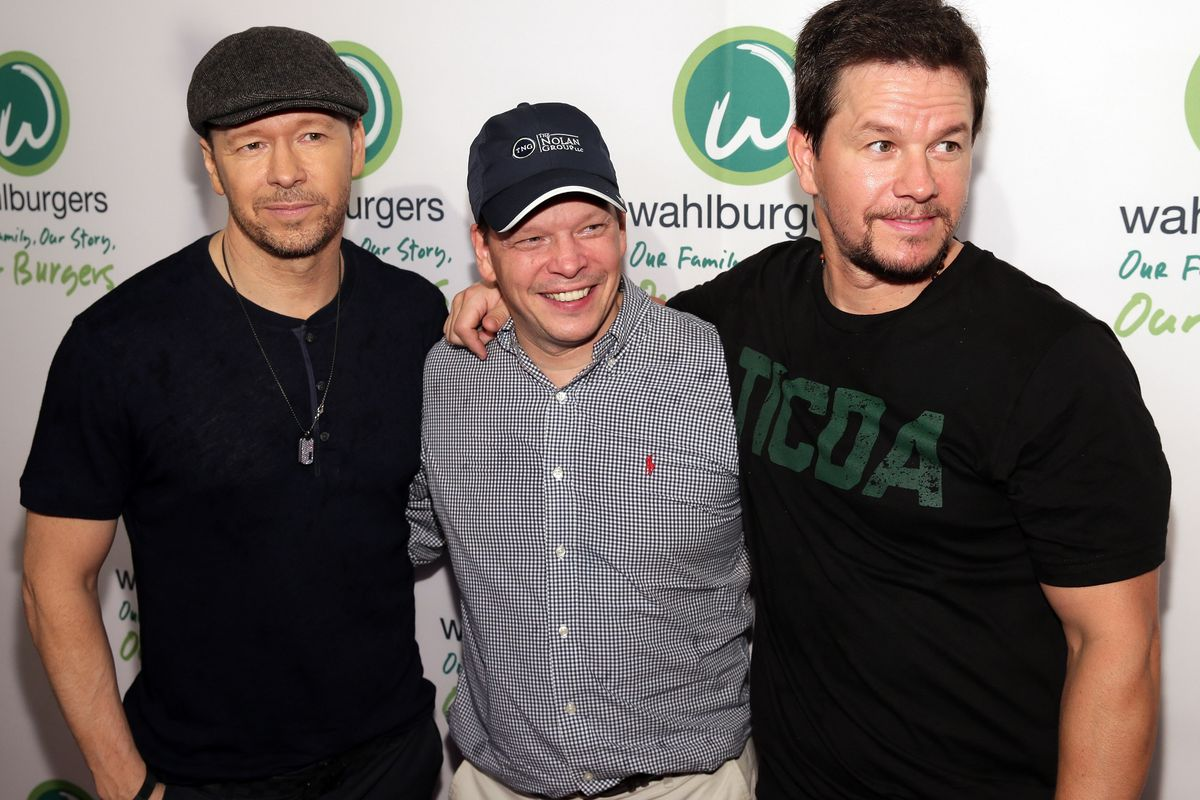 L-R: brothers Donnie, Paul, and Mark Wahlberg.
