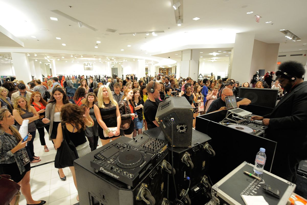 The scene last year at Saks. Photo credit: Getty Images