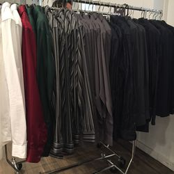 Button-down shirts, around $62.50 (from $250)