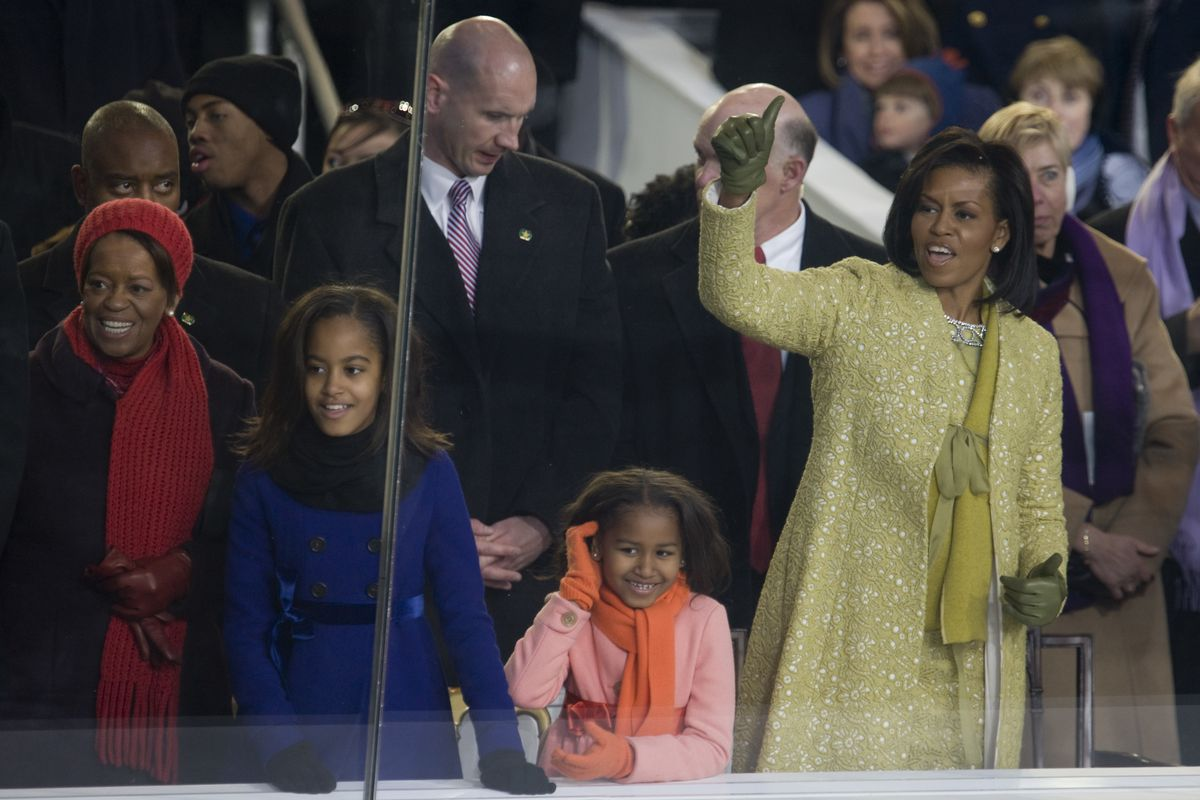 The first family attends the inauguration.