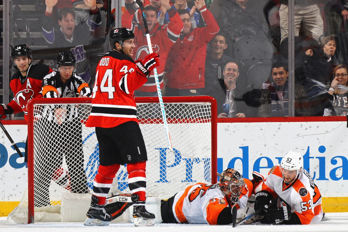 21ef149a073 With Special Teams & Wood, New Jersey Devils Struck Down Philadelphia  Flyers 4-1