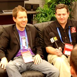Cliff with Mark Rein at GDC 2008