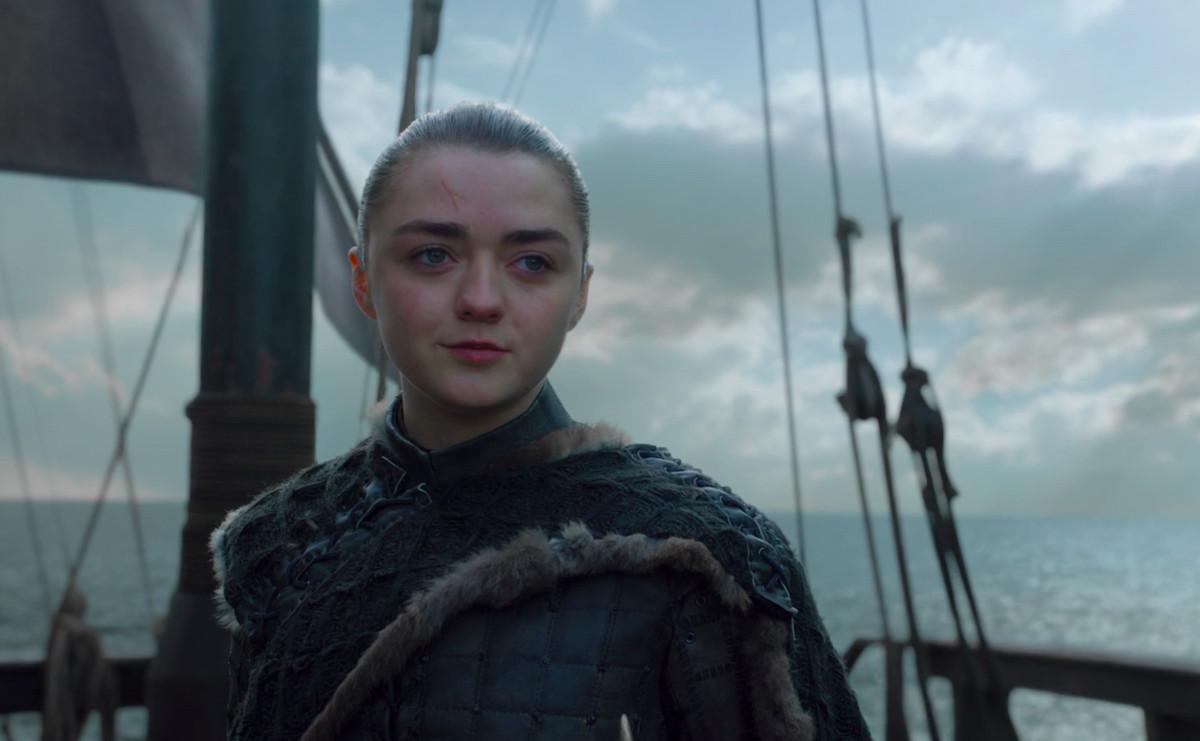 arya stark going west of westeros in game of thrones series finale