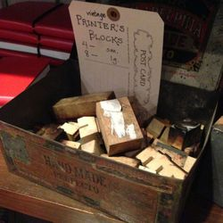 """Printer's Block, $4 for a small block and $8 for a large block at <a href=""""http://www.goodwooddc.com"""">GoodWood</a>"""
