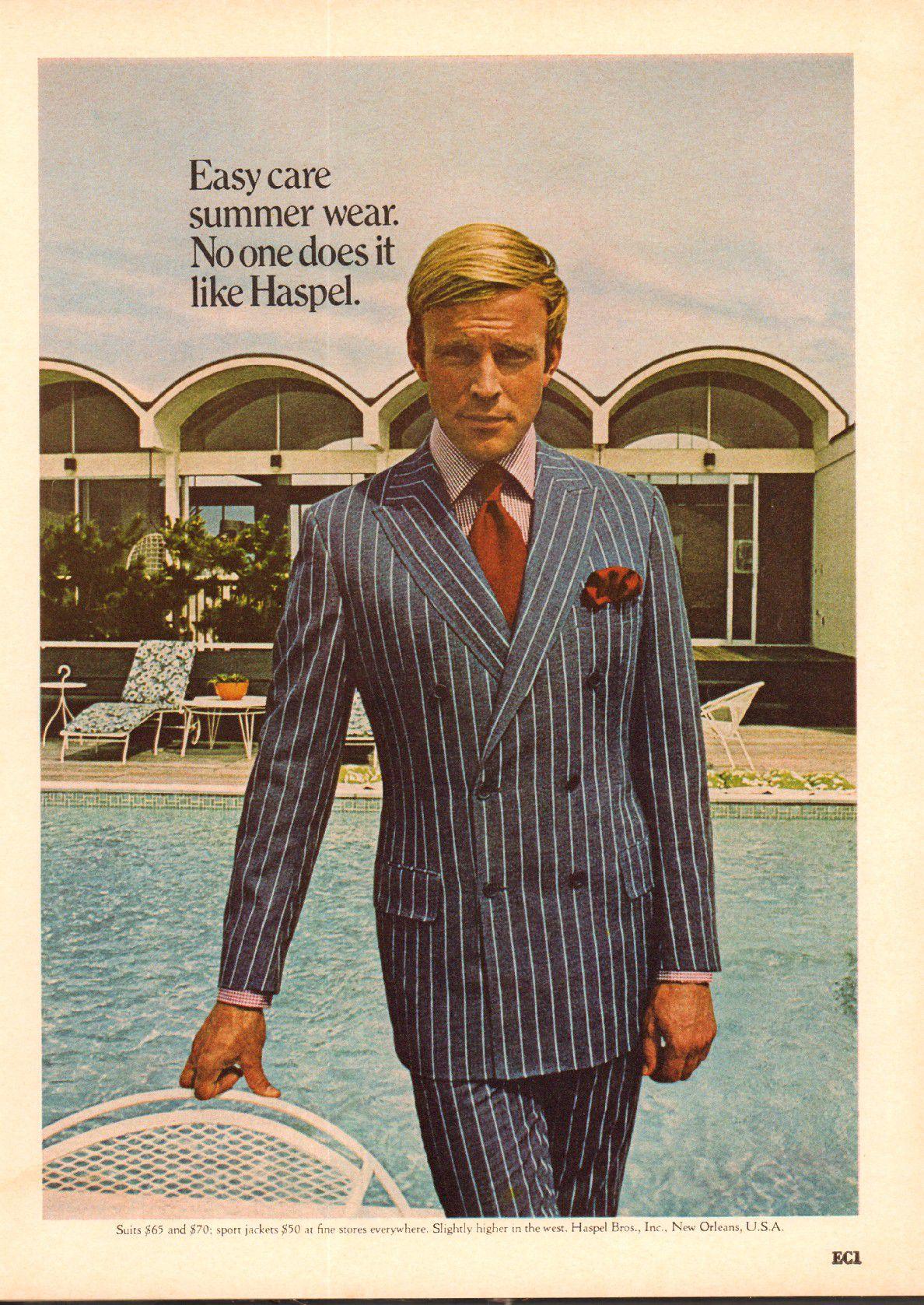 A 1970 Haspel ad.