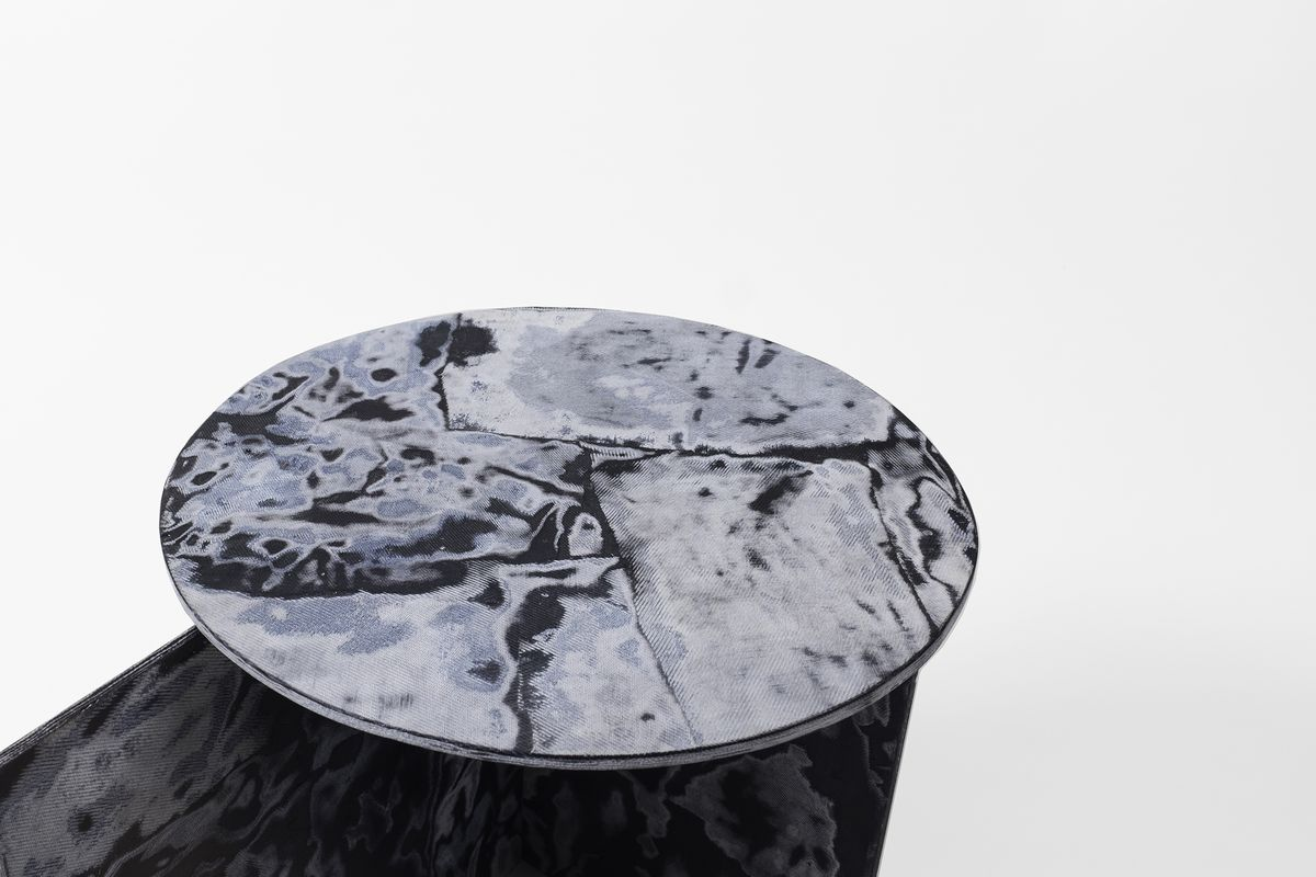 Close-up of blue table top