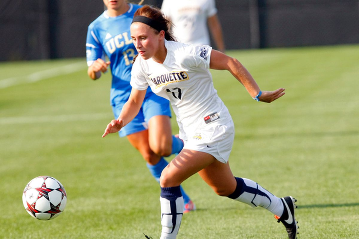 Liz Bartels is one of four Golden Eagles on the all-Big East teams.