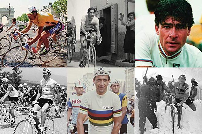 Some of the riders who inspired and motivated Wiggins