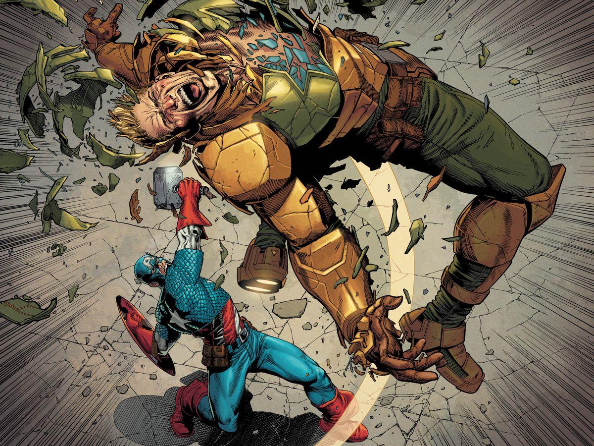 很多时候美国队长在漫画中与美国队长作战