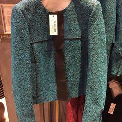 Turquoise jacket, $199 (was $1,995)