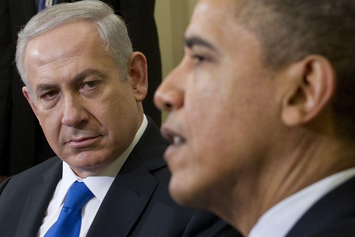 Israeli Prime Minister Benjamin Netanyahu with President Obama