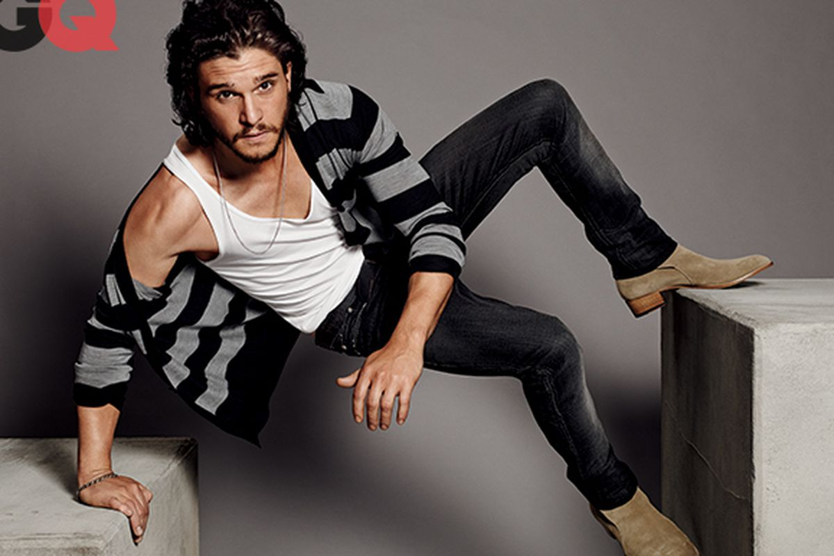 """Photo by Paola Kudacki for <a href=""""http://www.gq.com/entertainment/celebrities/201404/kit-harington-cover-story-april-2014"""">GQ</a>."""