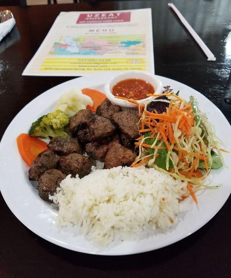 Lamb kebabs from UZeat