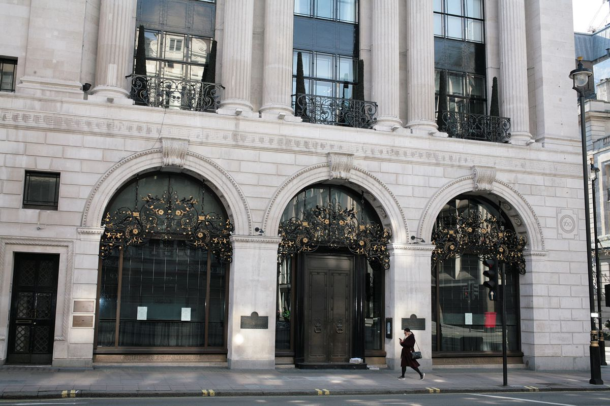 The Wolseley, one of London's most famous restaurants, on Piccadilly has been closed for seven weeks