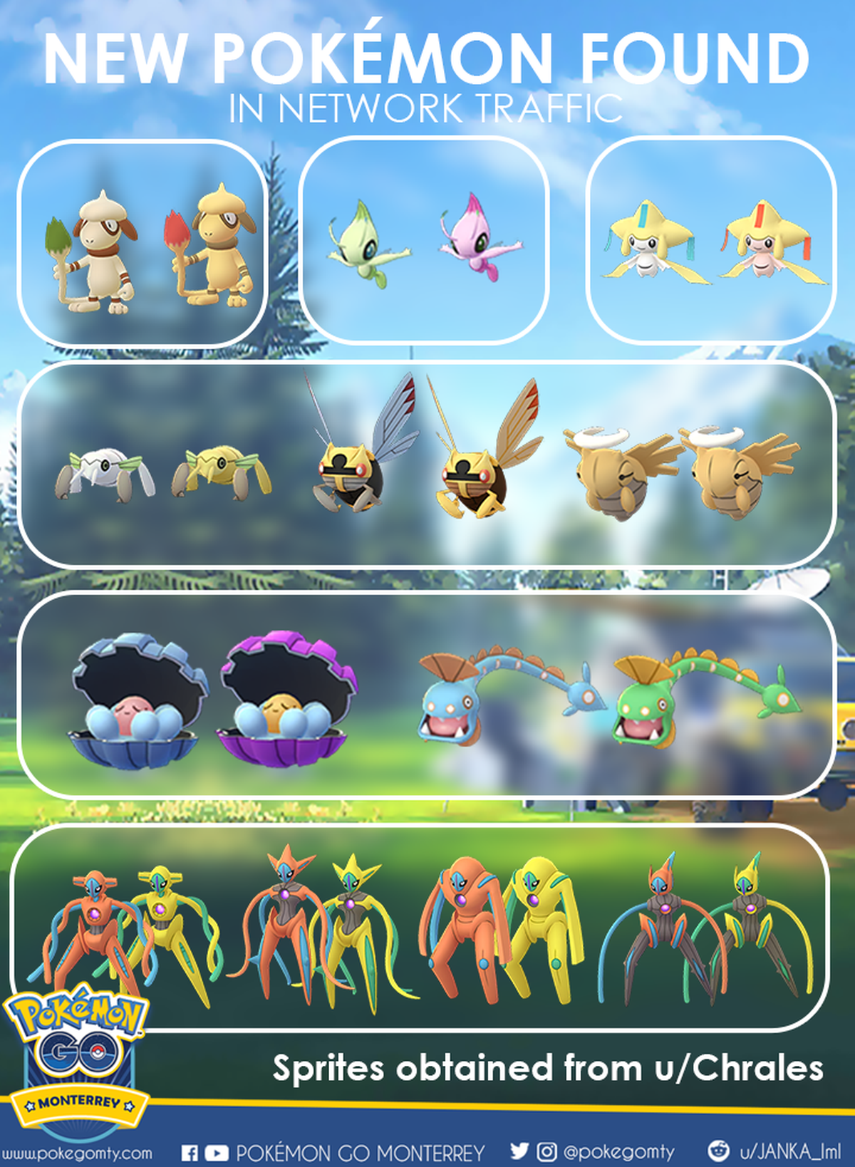 New Pokémon Go sprites found in-game