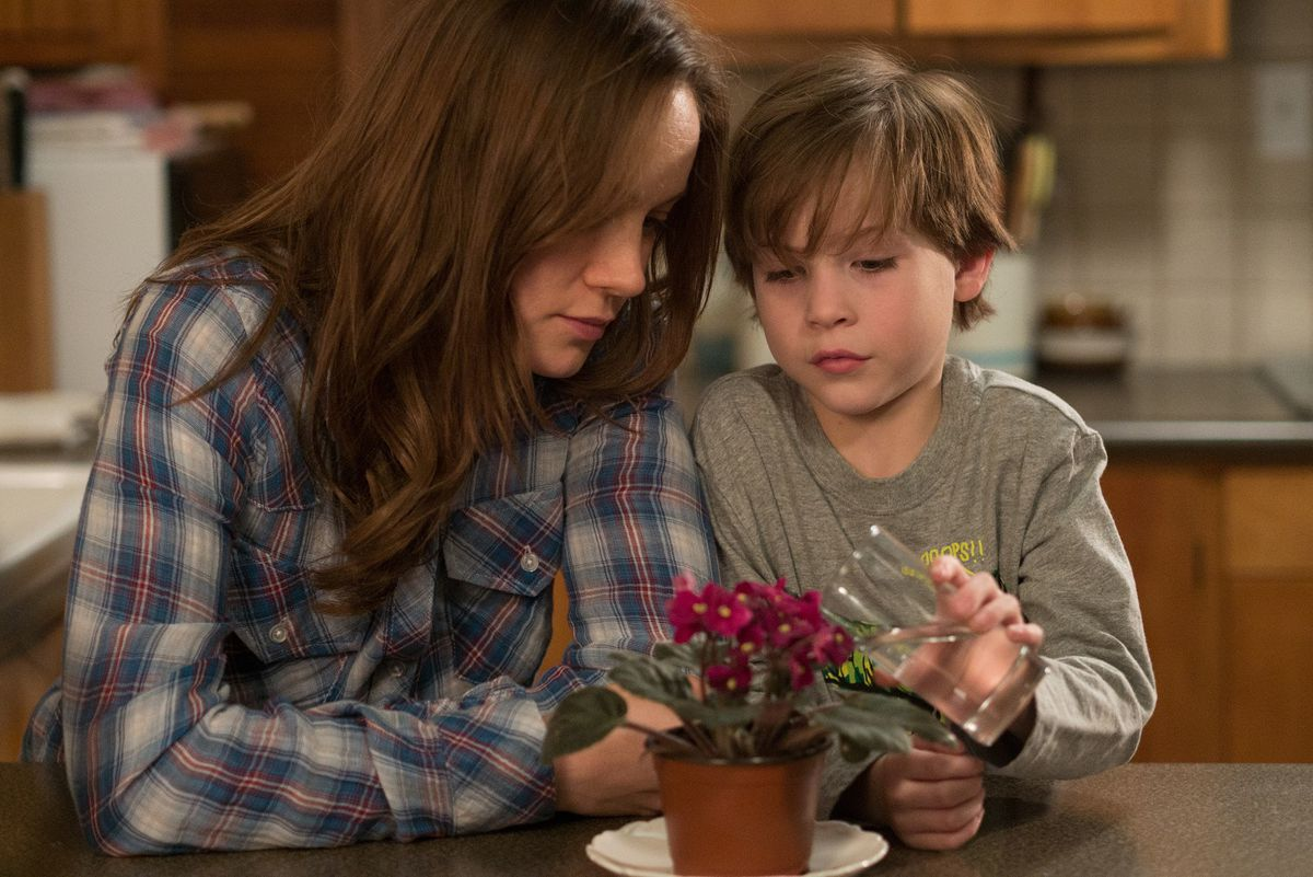 Brie Larson and Jacob Tremblay in Room.