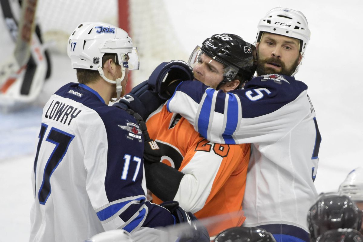 A Flyer bites Mark Stuart who just wants a hug. Adam Lowry is too scared to help.