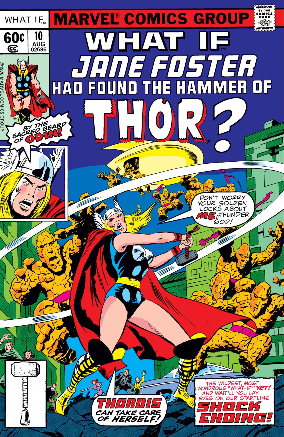 """Jane Foster as """"Thoris"""" on the cover of What If? #10, Marvel Comics (1978)."""