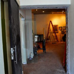 A look from the back entrance to Honey Salt.